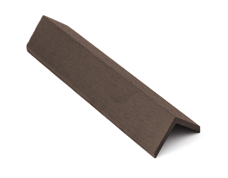 Zakončovácí lišta G21 Indický teak 4,5 x 4,5 x 300 cm, mat. WPC