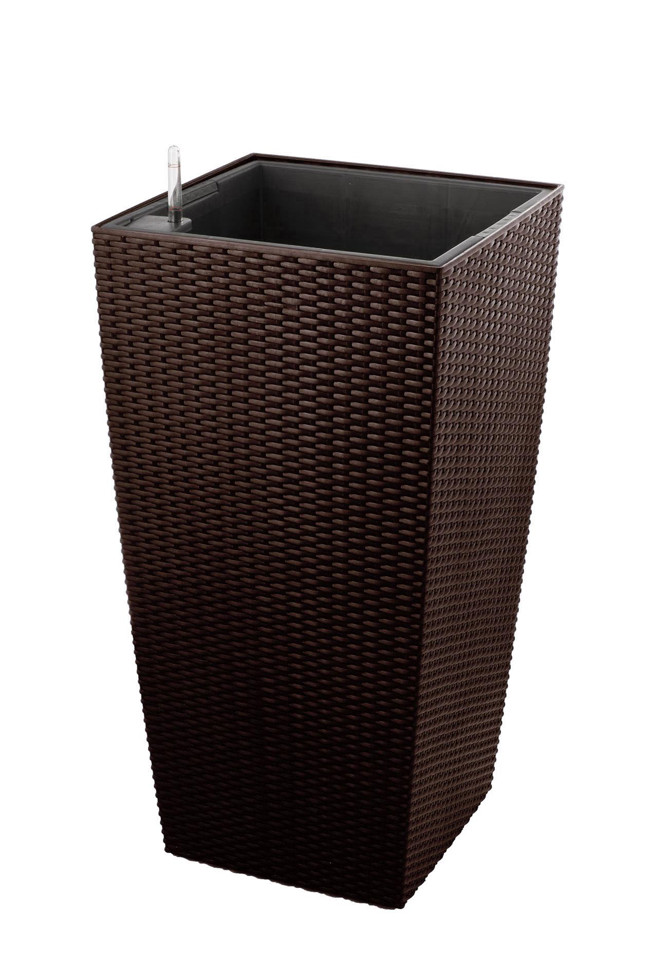 Samozavlažovací květináč G21 Linea ratan big mocha 76 cm