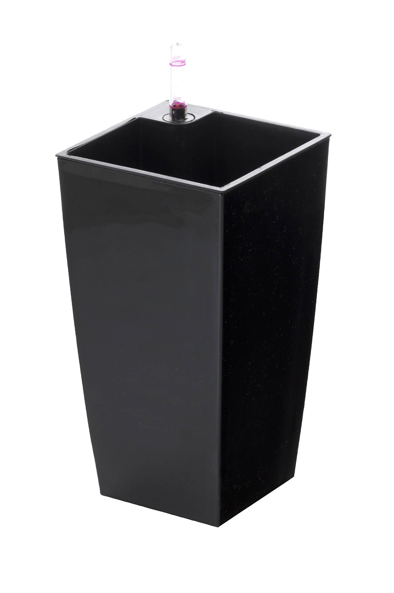 Samozavlažovací květináč G21 Linea mini černý 26 cm
