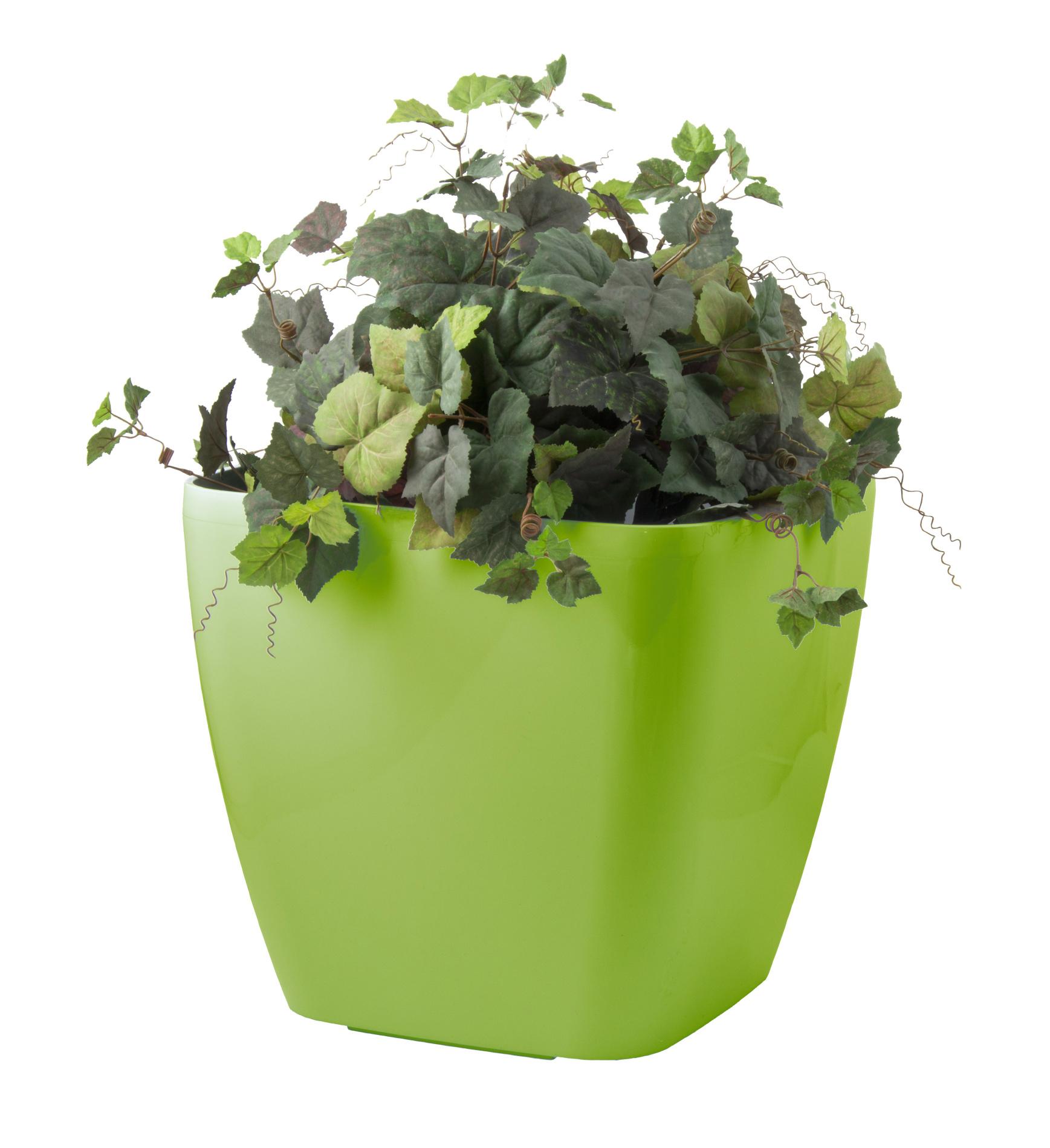 Samozavlažovací květináč G21 Cube maxi zelený 45 cm