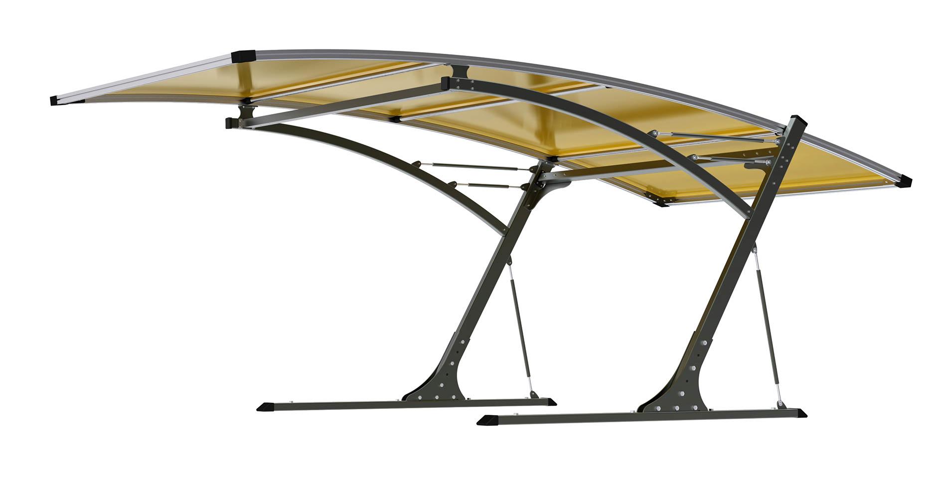 Přístřešek pro automobil G21 Carport black/yellow 5,8 x 3,1 m