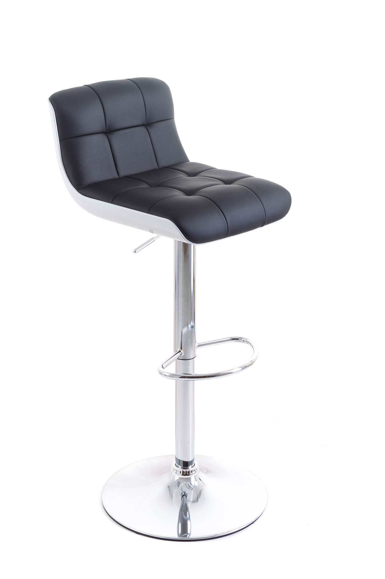 Barová židle G21 Treama koženková black/white