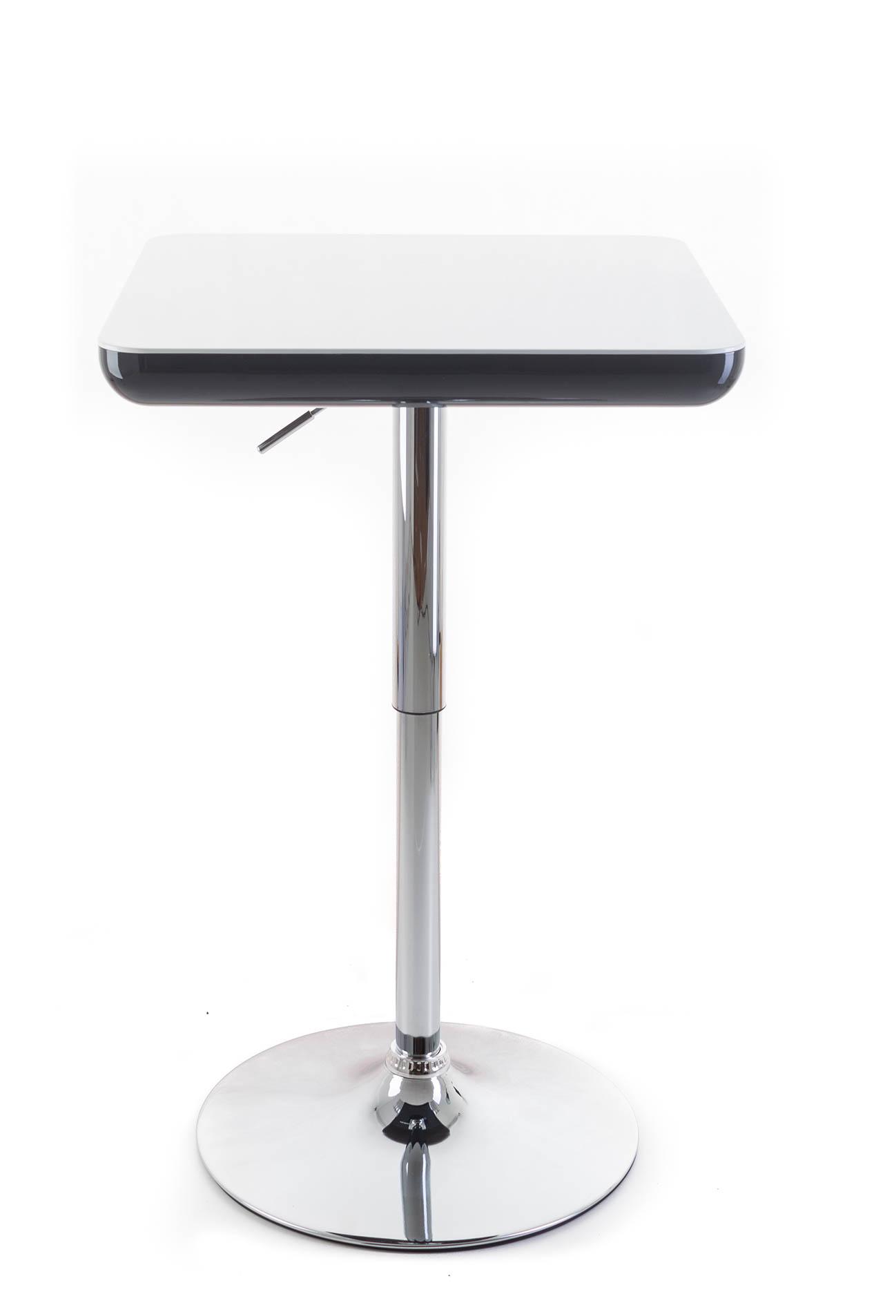 Barový stolek G21 Whieta plastový white/black