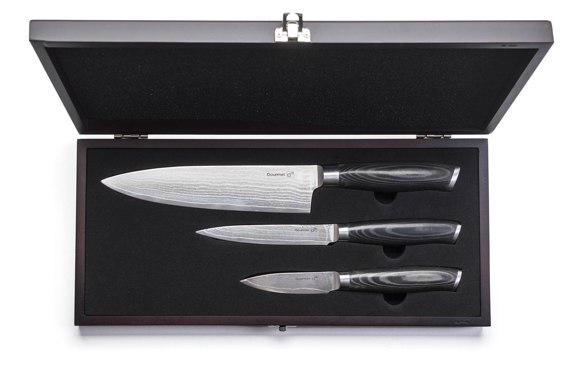 Sada nožů G21 Gourmet Damascus small box 3 ks