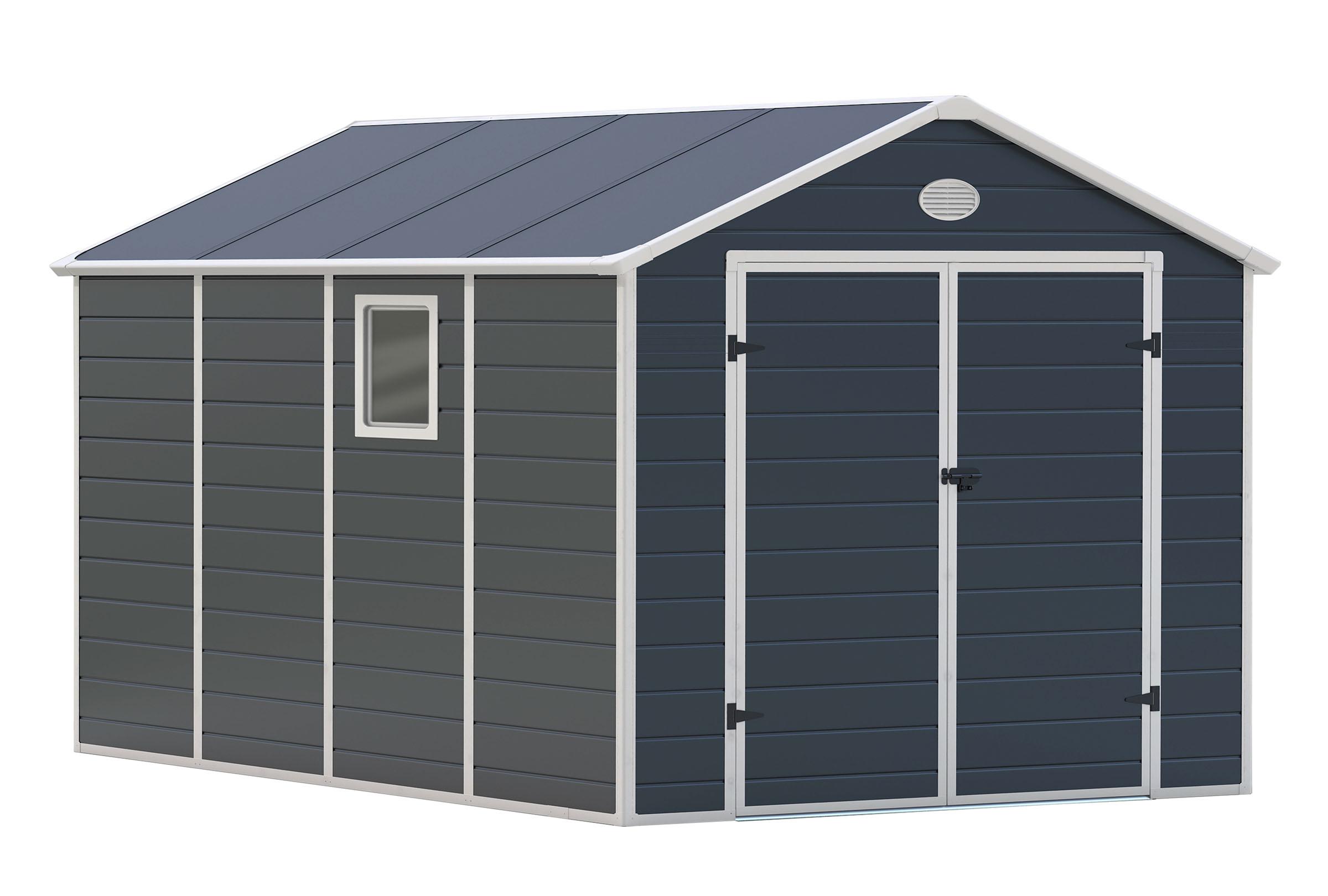Zahradní domek G21 PAH 882 - 241 x 366 cm, plastový, šedý