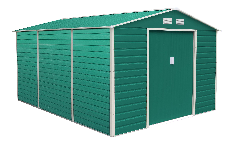 Zahradní domek G21 GAH 1300 - 340 x 382 cm, zelený