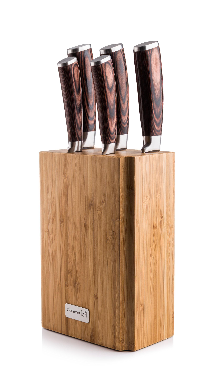 Sada nožů G21 Gourmet Nature 5 ks + bambusový blok