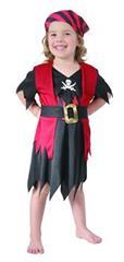 Karnevalový kostým Pirátka 92 - 104cm