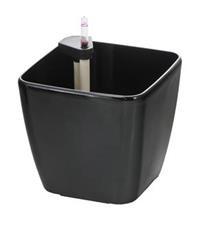 Samozavlažovací květináč G21 Cube černý 22 cm