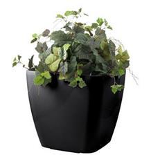 Samozavlažovací květináč G21 Cube maxi černý 45cm