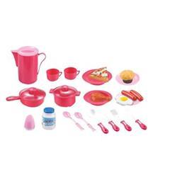 Hračka G21 Dětské nádobí plastové růžové 22 ks
