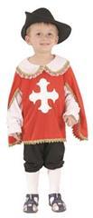 Karnevalový kostým Mušketýr 92 - 104 cm