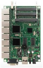RouterBoard Mikrotik RB493G 256 MB RAM, 680 MHz, 3x miniPCI, 9x giga LAN, USB, vč. L5