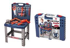 Hračka G21 Dětské nářadí kufřík a pracovní stůl