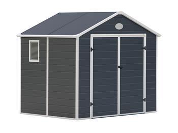 Zahradní domek G21 PAH 458 - 241 x 190 cm, plastový, šedý