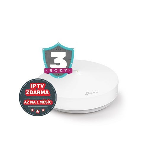 WiFi router TP-Link Deco M9 Plus(1-pack) AC2200 , 2x GLAN, 1x USB/ 400Mbps 2,4GHz/ 1734Mbps 5GHz, BT, ZigBee