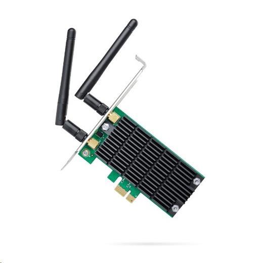 Síťová karta TP-Link Archer T4E AC 1200 Dual Band, 300Mbps 2,4GHz/ 867Mbps 5GHz, PCI-e, odnímatelná anténa