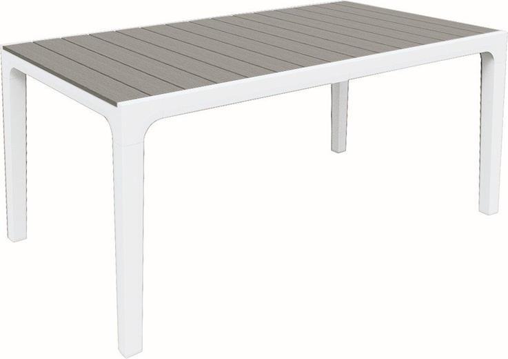 Zahradní stůl Keter Harmony bílá / světle šedá