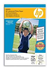 Papír HP Advanced Glossy Photo Paper 10x15cm, 25ks, 250g/m2