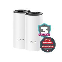 WiFi router TP-Link Deco M4(2-Pack) 2x GLAN/ 300Mbps 2,4GHz/ 867Mbps 5GHz